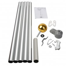 20' Sectional Aluminum Flagpole