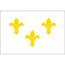 2x3' Nylon Fleur De Lis White Flag