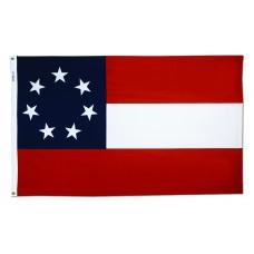 2x3' Nylon Stars And Bars Flag