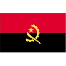 3x5' Lightweight Polyester Angola Flag