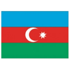 "4x6"" Hand Held Azerbaijan Flag"