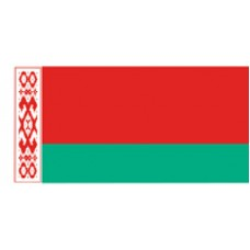 """4x6"""" Hand Held Belarus Flag"""