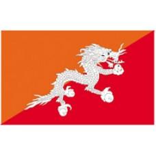 "4x6"" Hand Held Bhutan Flag"