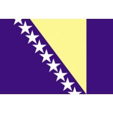 "4x6"" Hand Held Bosnia-Herzegovina Flag"