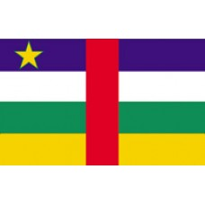 "4x6"" Hand Held Central African Republic Flag"