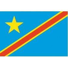 "4x6"" Hand Held Congo Demorcratic Republic Flag"