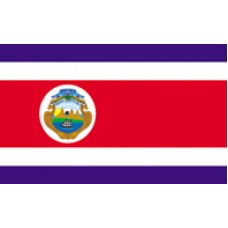 6x10' Nylon Costa Rica Flag