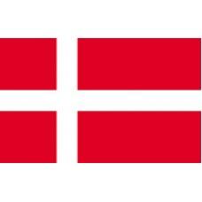 """4x6"""" Hand Held Denmark Flag"""