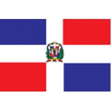 "4x6"" Hand Held Dominican Republic Flag"