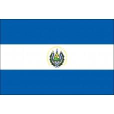 """4x6"""" Hand Held El Salvador Flag"""