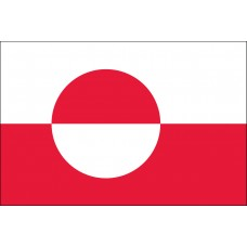 "4x6"" Hand Held Greenland Flag"