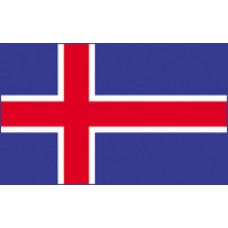 "4x6"" Hand Held Iceland Flag"