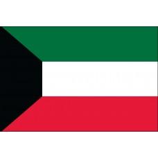 """4x6"""" Hand Held Kuwait Flag"""