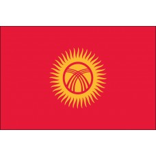 "4x6"" Hand Held Kyrgyzstan Flag"