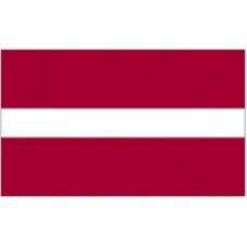 """4x6"""" Hand Held Latvia Flag"""