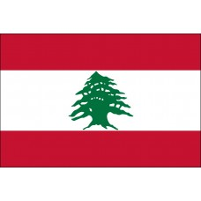"4x6"" Hand Held Lebanon Flag"