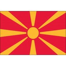 """4x6"""" Hand Held Macedonia Flag"""