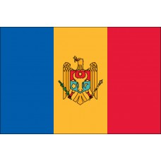 "4x6"" Hand Held Moldova Flag"