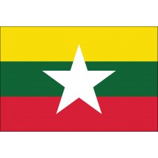 "4x6"" Hand Held Myanmar Flag"