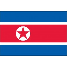 "4x6"" Hand Held North Korea Flag"