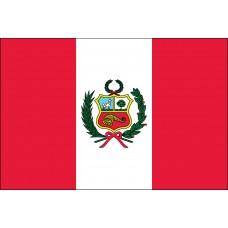 """4x6"""" Hand Held Peru Flag"""