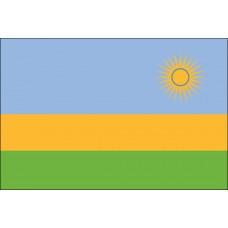 """4x6"""" Hand Held Rwanda Flag"""