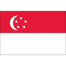 "4x6"" Hand Held Singapore Flag"