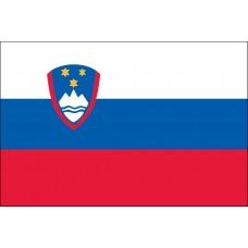 """4x6"""" Hand Held Slovenia Flag"""