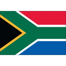 "4x6"" Hand Held South Africa Flag"