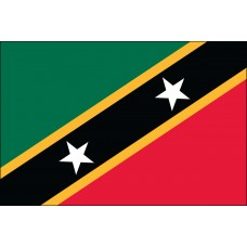 "4x6"" Hand Held St Kitts-Nevis Flag"