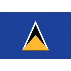 "4x6"" Hand Held St Lucia Flag"