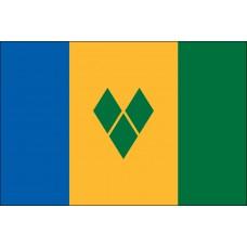 "4x6"" Hand Held St Vincent Flag"