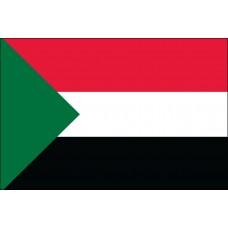 "4x6"" Hand Held Sudan Flag"