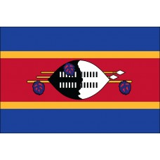 "4x6"" Hand Held Swaziland Flag"