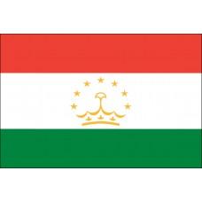 """4x6"""" Hand Held Tajikistan Flag"""