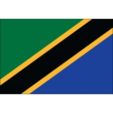 "4x6"" Hand Held Tanzania Flag"
