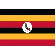 2x3' Nylon Uganda Flag