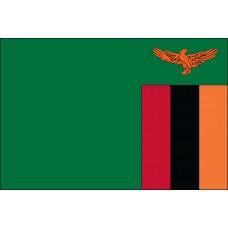 "4x6"" Hand Held Zambia Flag"
