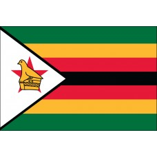 "4x6"" Hand Held Zimbabwe Flag"