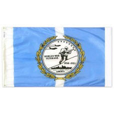 "4x6"" Hand Held Korean War Veterans Flag"