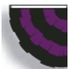 3x3' Nylon Mourning Half Fan