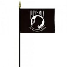 "4x6"" Hand Held POW-MIA Flag"