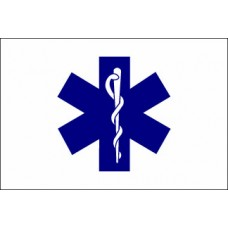 3x5' Nylon Paramedic (EMS/Star of Life) Flag