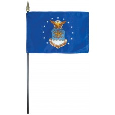 """4x6"""" Hand Held Air Force Flag"""