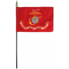 "4x6"" Hand Held Marine Corps Flag"
