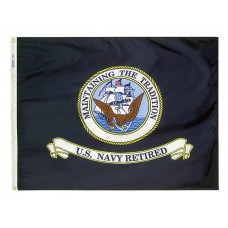 3x4' Nylon Navy Retired Flag