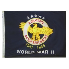 "4x6"" Hand Held World War 2 Commemorative Flag"