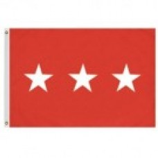 2x3' Nylon Lieutenant General Officer (Army) Flag