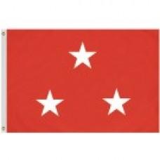 2x3' Nylon Lieutenant General Officer (USMC - Marine Corps) Flag