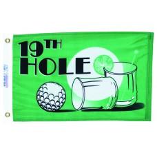 "12x18"" Nylon 19th Hole Flag"